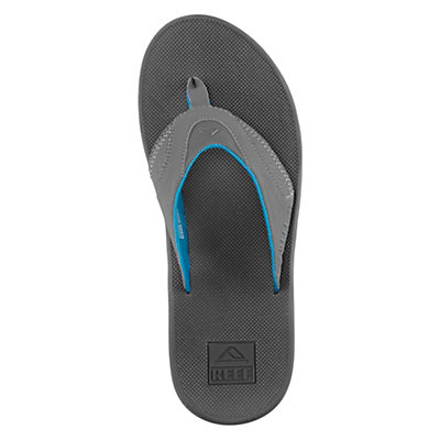 Reef Fanning Mens Flip Flops, Grey-Red, viewer