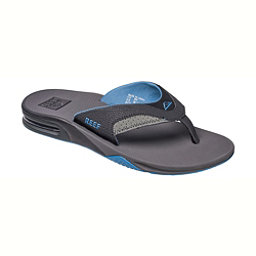 Reef Fanning Mens Flip Flops, Grey-Light Blue, 256