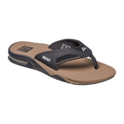 Reef Fanning Mens Flip Flops, Black-Tobacco, medium