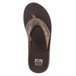 Reef Fanning Prints Mens Flip Flops, Brown Plaid, 256