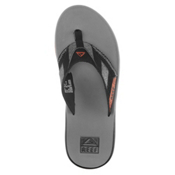 Reef Fanning Prints Mens Flip Flops, Burgundy Stripe, medium