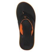 Reef Rover Mens Flip Flops, Black-Orange, medium