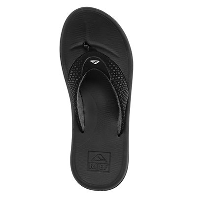 Reef Rover Mens Flip Flops, Black-Orange, viewer