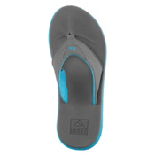 Reef Rover Mens Flip Flops, Charcoal-Blue Pop, medium