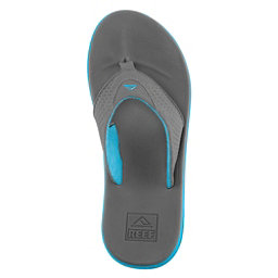Reef Rover Mens Flip Flops, Charcoal-Blue Pop, 256