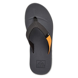 Reef Slammed Rover Mens Flip Flops, Black-Yellow, 256