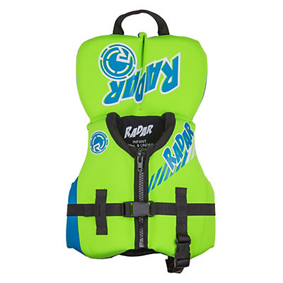 Radar Skis Hideo Infant Life Vest, Arancio-Verde-Glow, viewer