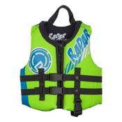 Radar Skis Hideo Toddler Life Vest, Arancio-Verde-Glow, medium