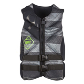 Ronix Forester Capella Adult Life Vest 2016, Black-Grey Plaid, medium