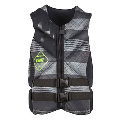 Ronix Forester Capella Adult Life Vest 2016, Black-Grey Plaid, viewer