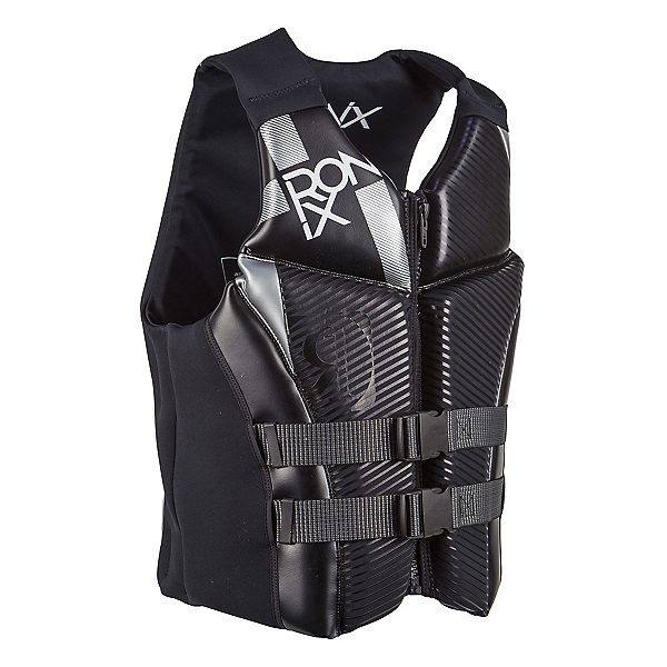Ronix Covert Adult Life Vest 2017, Black-Metallic Silver, 600