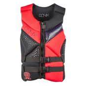 Ronix Limelight Capella Womens Life Vest, Black-Electric Papaya, medium