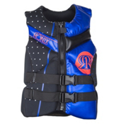 Ronix Quarter Til Midnight Capella Womens Life Vest, Black-Anodized Blue, medium