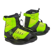 Ronix Vision Kids Wakeboard Bindings, Psycho Green-Neon Butter, medium