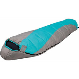 Alps Mountaineering Fahrenheit 0 Mummy Womens Sleeping Bag, Grey-Green, 256