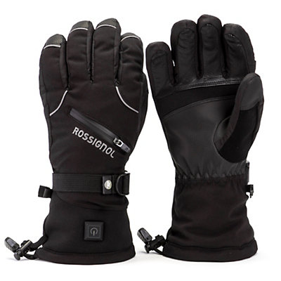 Rossignol Winters Fire Mens Heated Gloves and Mittens, Black, viewer