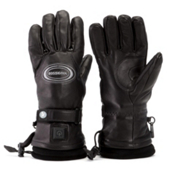 Rossignol Winters Fire Leather Heated Ski Gloves, Black, medium