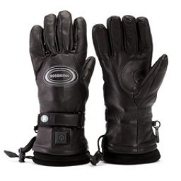 Rossignol Winters Fire Leather Womens Heated Gloves and Mittens, Black, 256