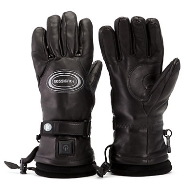 Rossignol Winters Fire Leather Heated Ski Gloves, Black, viewer
