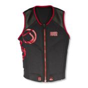 Liquid Force Watson Comp Adult Life Vest 2016, Red-Coal, medium