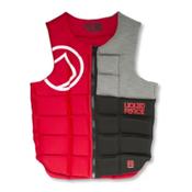 Liquid Force Flex Comp Adult Life Vest 2016, Black-Red, medium