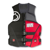 Liquid Force Reflex Adult Life Vest 2016, Black-Red, medium