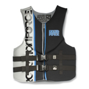 Liquid Force Vortex Adult Life Vest, Black-Silver, medium
