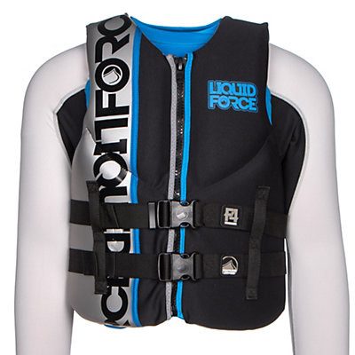 Liquid Force Vortex Adult Life Vest, Black-Silver, viewer