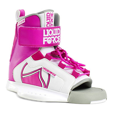 Liquid Force Dream Girls Wakeboard Bindings 2017, White-Pink, viewer