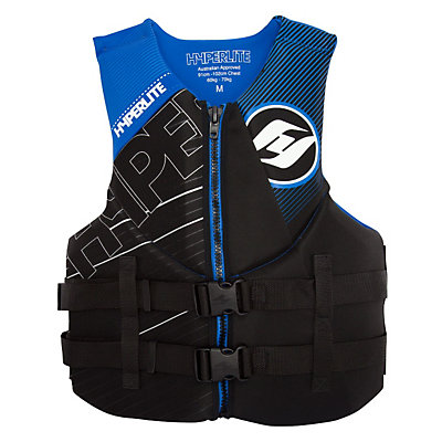 Hyperlite Indy Neo Adult Life Vest 2017, Black-Blue, viewer