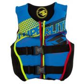 Hyperlite Youth Indy Neo Boys Junior Life Vest 2016, Blue-Volt, medium