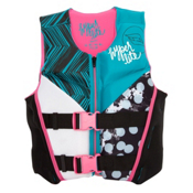 Hyperlite Youth Indy Neo Girls Junior Life Vest 2017, Black-Turquise, medium