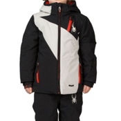 Spyder Mini Enforcer Toddler Ski Jacket (Previous Season), Black-Cirrus-Cirrus, medium