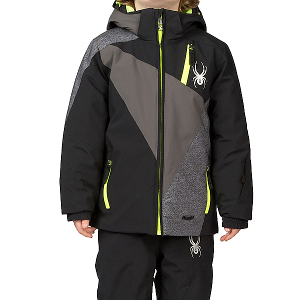 Spyder Mini Enforcer Toddler Ski Jacket (Previous Season), Black-Polar-Polar Wool Print, 600