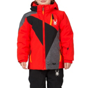 Spyder Mini Enforcer Toddler Ski Jacket, Volcano-Black-Polar Wool Print, medium