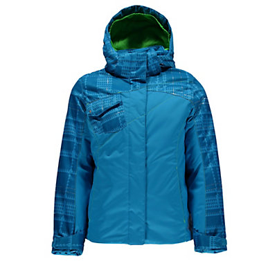 Spyder Dreamer Girls Ski Jacket (Previous Season), Riviera-Riviera Check Plaid Pr, viewer