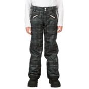 Spyder Vixen Tailored Girls Ski Pants (Previous Season), Black Check Plaid Print, medium