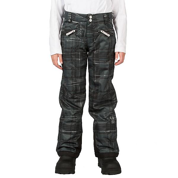 Spyder Vixen Tailored Girls Ski Pants (Previous Season), Black Check Plaid Print, 600