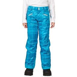 Spyder Vixen Tailored Girls Ski Pants (Previous Season), Riviera Check Plaid Print, 256