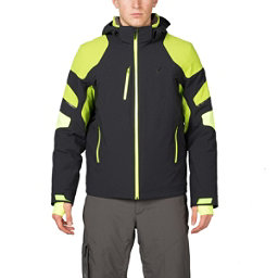 Spyder Verbier Mens Insulated Ski Jacket (Previous Season), Black-Theory Green-Bryte Yello, 256