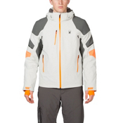 Spyder Verbier Mens Insulated Ski Jacket, Cirrus-Polar-Bryte Orange, medium