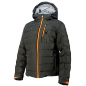 Spyder Impulse Down Mens Insulated Ski Jacket, Polar-Bryte Orange-Cirrus, medium