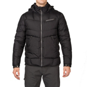 Spyder Stance Hoody Mens Down Jacket, Black-Polar, medium