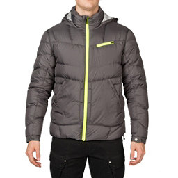Spyder Stance Hoody Mens Down Jacket (Previous Season), Polar-Cirrus-Bryte Yellow, 256