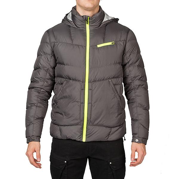 Spyder Stance Hoody Mens Down Jacket (Previous Season), Polar-Cirrus-Bryte Yellow, 600