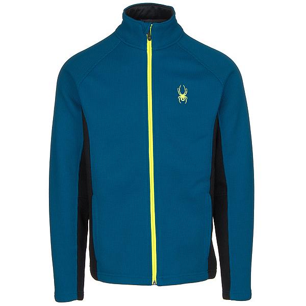 Spyder Core Constant Tailored Mens Sweater (Previous Season), Concept Blue-Black-Bryte Yello, 600