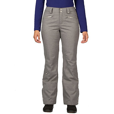 Spyder ME Tailored Fit Short Womens Ski Pants (Previous Season), Graystone Tech Flannel, viewer