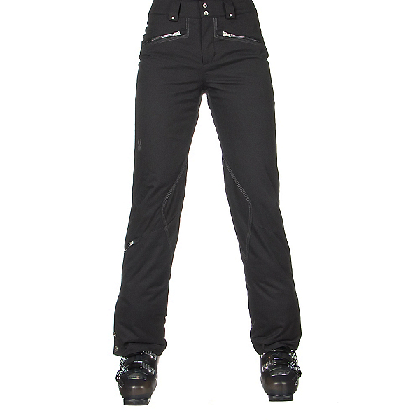 Spyder ME Tailored Fit Short Womens Ski Pants (Previous Season), Black Tech Flannel, 600