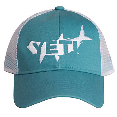 YETI Tarpon Trucker Hat, Teal, viewer
