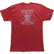 YETI Coat Of Arms Tee Mens T-Shirt, Brick Red, medium